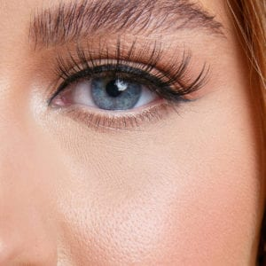 Angel lashes close-up