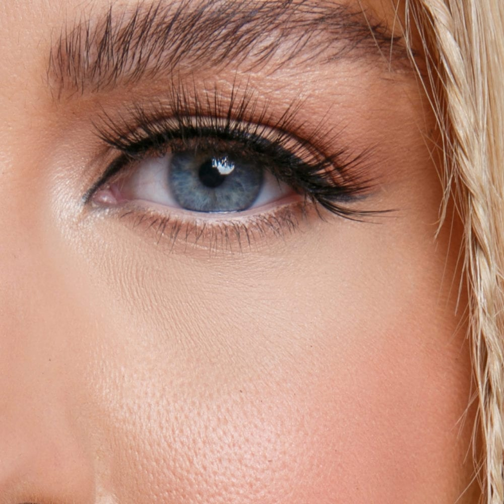 wild lashes close-up